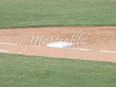 Along the first base path at the baseball field Stock Photo - Royalty-Free, Artist: Northwoodsphoto               , Code: 400-04323919