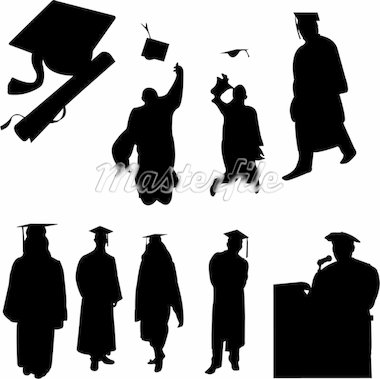graduation students collection - vector Stock Photo - Royalty-Free, Artist: bojanovic78                   , Code: 400-04325210