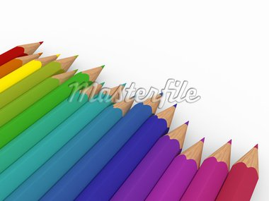 3d pencil red blue green yellow purple colorful Stock Photo - Royalty-Free, Artist: dak                           , Code: 400-04329162