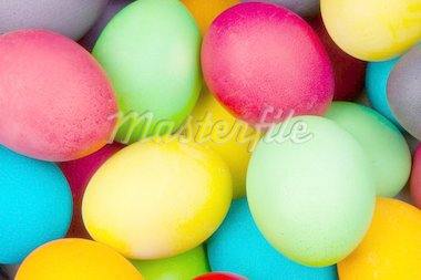 color eggs for holiday easter, background Stock Photo - Royalty-Free, Artist: loskutnikov                   , Code: 400-04334727