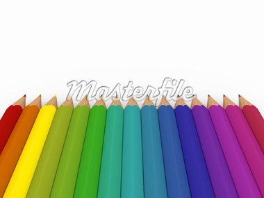 3d pencil red blue green yellow purple colorful Stock Photo - Royalty-Free, Artist: dak                           , Code: 400-04335204