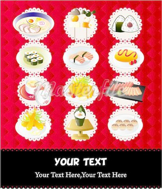 Japanese food menu Stock Photo - Royalty-Free, Artist: notkoo2008                    , Code: 400-04335417