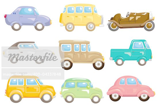 Cartoon car icon stock photos