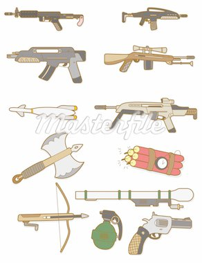 cartoon weapon icon Stock Photo - Royalty-Free, Artist: notkoo2008                    , Code: 400-04338270
