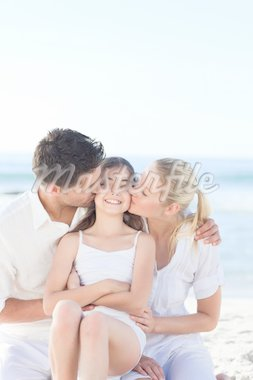Lovely girl with her parents Stock Photo - Royalty-Free, Artist: 4774344sean                   , Code: 400-04338865