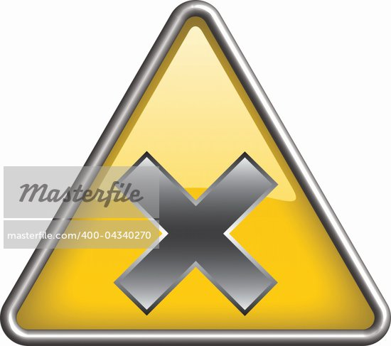irritant hazard symbol/ icon in yellow 3D triangle Stock Photo - Royalty-Free, Artist: mkocijan                      , Code: 400-04340270
