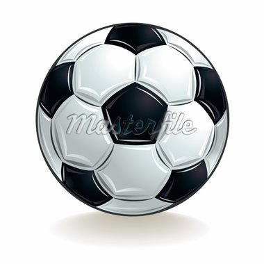 Vector soccer ball. Stock Photo - Royalty-Free, Artist: Sylverarts                    , Code: 400-04347032