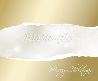 Vector Christmas golden background with white snowflakes and place for your text Stock Photo - Royalty-Free, Artist: orsonsurf                     , Code: 400-04347522