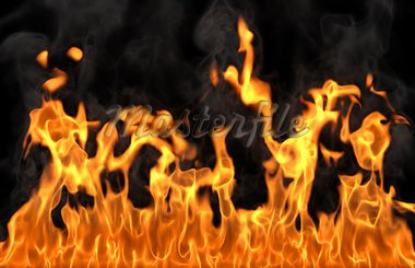 fire isolated on black Stock Photo - Royalty-Free, Artist: dimdimich                     , Code: 400-04359945
