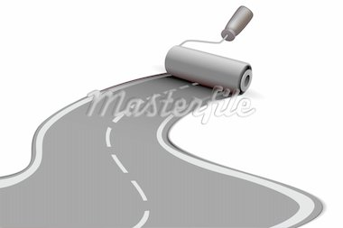 illustration of road roller on white background Stock Photo - Royalty-Free, Artist: get4net                       , Code: 400-04366289