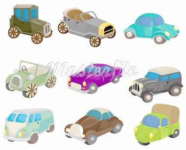 cartoon retro car icon Stock Photo - Royalty-Free, Artist: notkoo2008                    , Code: 400-04366675