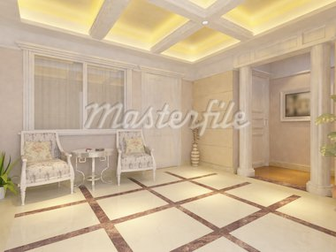 Interior fashionable living-room rendering Stock Photo - Royalty-Free, Artist: baojia1998                    , Code: 400-04367223