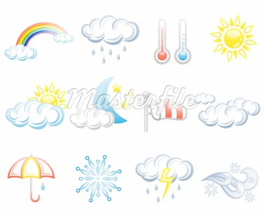Weather isolated on white background. Stock Photo - Royalty-Free, Artist: Filata                        , Code: 400-04368792
