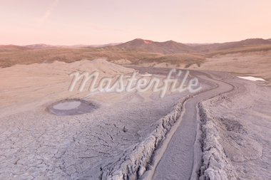 Strange landscape produced bu active mud volcanoes. Location: Buzau Romania Stock Photo - Royalty-Free, Artist: porojnicu                     , Code: 400-04370583