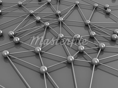 abstract 3d illustration of network or molecular structure Stock Photo - Royalty-Free, Artist: madmaxer                      , Code: 400-04372545