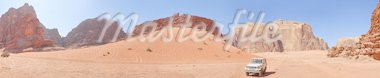 Amazing view in desert in Vadi Ram Jordan. Panorama Stock Photo - Royalty-Free, Artist: macsim                        , Code: 400-04379150