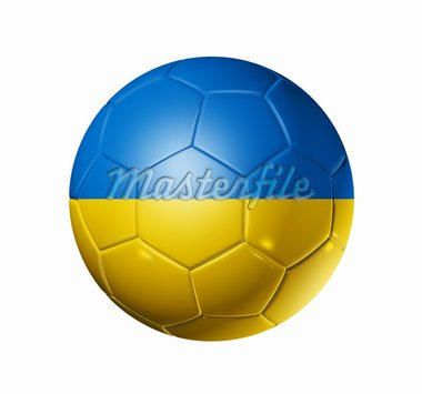 3D soccer ball with Ukraine team flag. isolated on white with clipping path Stock Photo - Royalty-Free, Artist: daboost                       , Code: 400-04382593