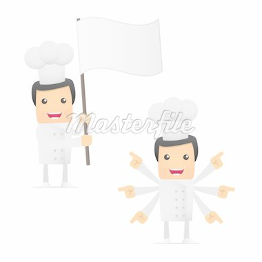 set of funny cartoon chef in various poses for use in presentations, etc. Stock Photo - Royalty-Free, Artist: artenot                       , Code: 400-04384878