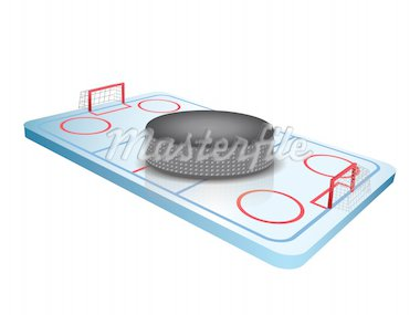 3d Hockey field vector Stock Photo - Royalty-Free, Artist: graphit                       , Code: 400-04385904
