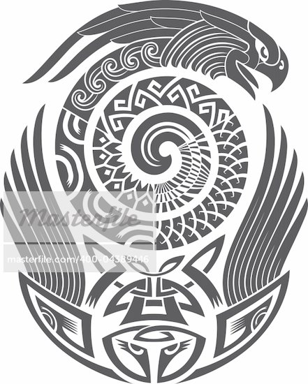 Tribal tattoo pattern.