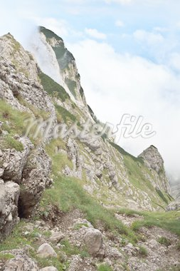 a mountain slope in Bucegi Mountains, Romania Stock Photo - Royalty-Free, Artist: porojnicu                     , Code: 400-04391545