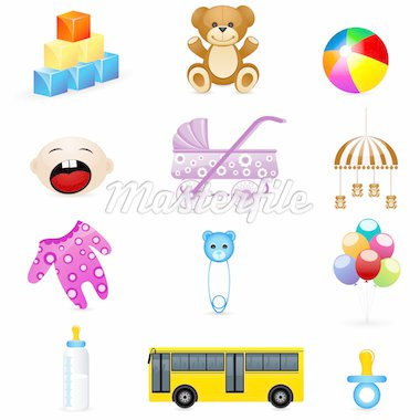 illustration of kids icon on white background Stock Photo - Royalty-Free, Artist: get4net                       , Code: 400-04391785