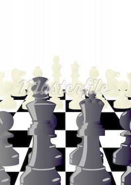 Chess pieces on the background of a chessboard. Stock Photo - Royalty-Free, Artist: guarding                      , Code: 400-04393632