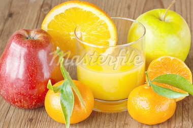 Fruit and fresh juice. Stock Photo - Royalty-Free, Artist: lidante                       , Code: 400-04393894