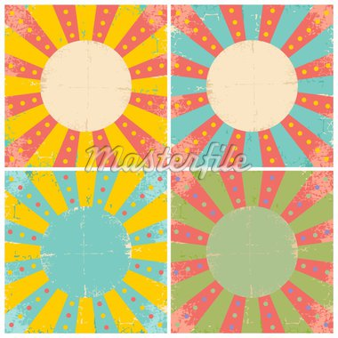 Set of four bright vintage circus posters Stock Photo - Royalty-Free, Artist: serazetdinov                  , Code: 400-04394750