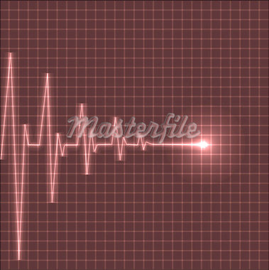 Abstract heart beats cardiogram illustration - vector Stock Photo - Royalty-Free, Artist: orsonsurf                     , Code: 400-04406297