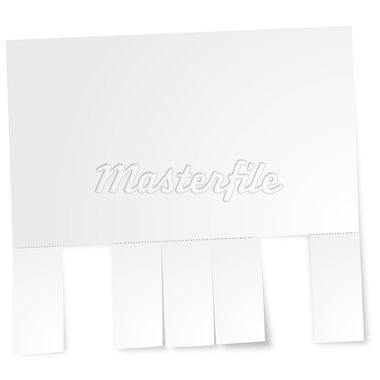 blank sheet of paper with perforation and torn out sheets Stock Photo - Royalty-Free, Artist: unkreatives                   , Code: 400-04407333