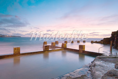 Dawn at a tidal pool in Coogee - a famous beach in eastern Sydney (it is near Bondi) Stock Photo - Royalty-Free, Artist: mroz                          , Code: 400-04407391
