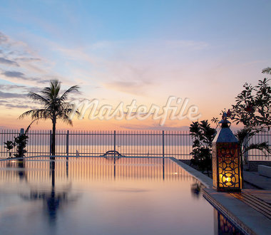Stunning sunset with a reflection in infinity pool Stock Photo - Royalty-Free, Artist: tommyandone                   , Code: 400-04414478