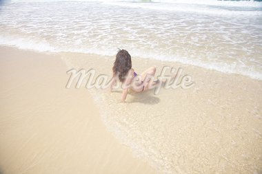 woman at Conil Beach in Cadiz Andalusia Spain Stock Photo - Royalty-Free, Artist: quintanilla                   , Code: 400-04417559