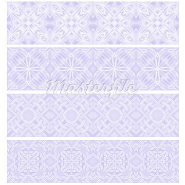 Lilac trim or border collection over white background Stock Photo - Royalty-Free, Artist: karanta                       , Code: 400-04418327