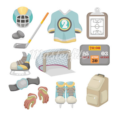 Vector ice hockey icon set Stock Photo - Royalty-Free, Artist: notkoo2008                    , Code: 400-04418967