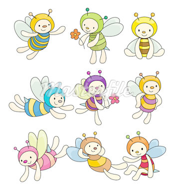 cartoon bee boy icon set   Stock Photo - Royalty-Free, Artist: notkoo2008                    , Code: 400-04420796