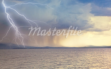 the beginning of the thunderstorm photo Stock Photo - Royalty-Free, Artist: vicnt                         , Code: 400-04422361