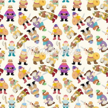 cartoon vikings pirate seamless pattern   Stock Photo - Royalty-Free, Artist: notkoo2008                    , Code: 400-04423991