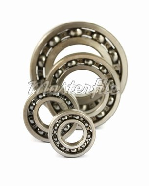 Steel ball bearings isolated on a white background Stock Photo - Royalty-Free, Artist: Mbongo                        , Code: 400-04424023