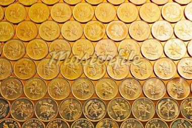 gold coins , Hong Kong currency $0.5 coins Stock Photo - Royalty-Free, Artist: leungchopan                   , Code: 400-04424250