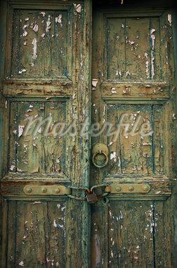 Close-Up of Old Locked Door Stock Photo - Premium Rights-Managed, Artist: Ben Seelt, Code: 700-04425011