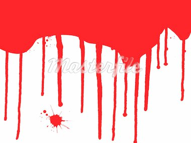 Blood Splats and Drips - running down over a white background  Stock Photo - Royalty-Free, Artist: Pokerman                      , Code: 400-04454583