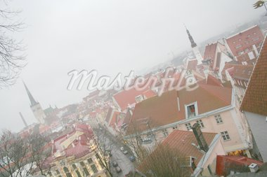 Cloudy view on old city of Tallinn. Estonia Stock Photo - Royalty-Free, Artist: ta_samaya                     , Code: 400-04488091