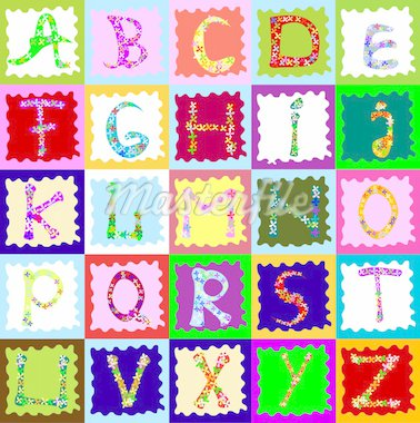 abstract design with alphabet; creative design for children Stock Photo - Royalty-Free, Artist: dip                           , Code: 400-04496735