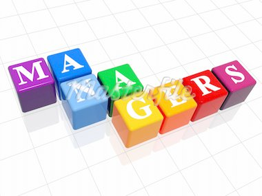 3d colour boxes with text - managers, word Stock Photo - Royalty-Free, Artist: marinini                      , Code: 400-04503146