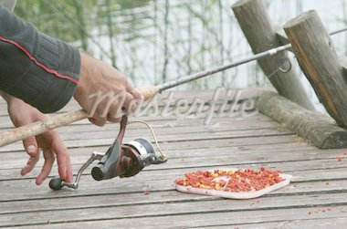 angling on lake Stock Photo - Royalty-Free, Artist: amaxim                        , Code: 400-04545580