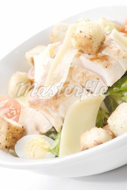 Caesar salad with chicken Stock Photo - Royalty-Free, Artist: ArteVedere                    , Code: 400-04550677