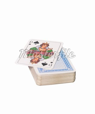 A pack of cards and the queen of spades Stock Photo - Royalty-Free, Artist: gemenacom                     , Code: 400-04578046