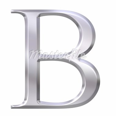 3d silver Greek letter Beta isolated in white Stock Photo - Royalty-Free, Artist: Georgios                      , Code: 400-04599079